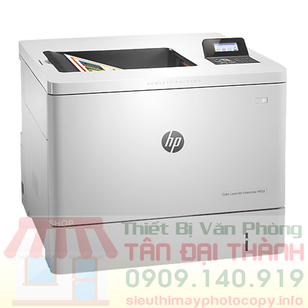 May in mau Hp Color Laserjet Enterprise M553N - Trang chủ