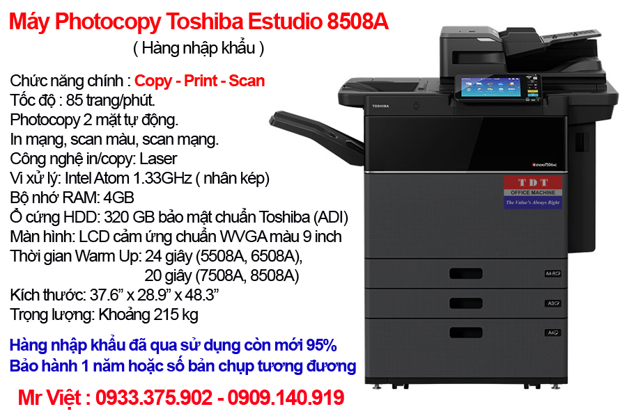 Ban may photocopy toshiba estudio 8508a - Máy Photocopy Toshiba e-Studio 8508A